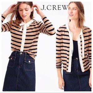 J. Crew Merino Wool 'Jackie Tie Neck' Cardigan XS